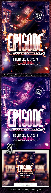 Episode Flyer Template PSD