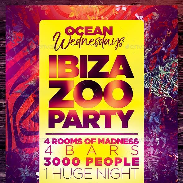 Ibiza Zoo Party Flyer Template