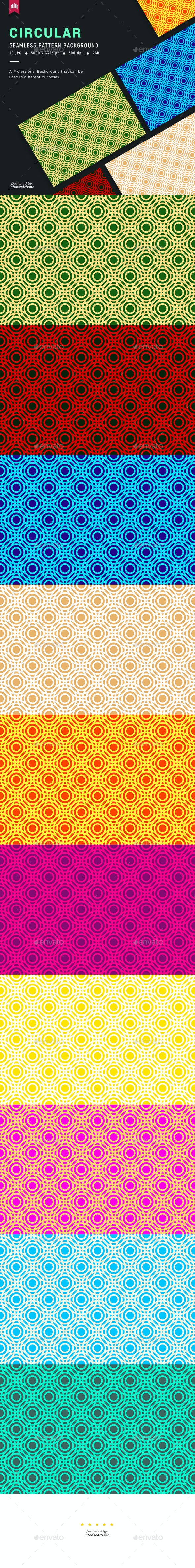 Circular Seamless Pattern Background
