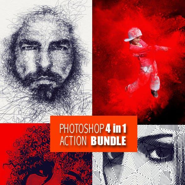 Photoshop 4in1  Actions Bundle V3