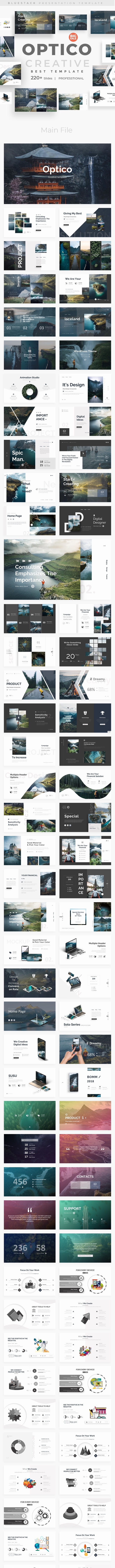 Optico Premium Design Powerpoint Template - Creative PowerPoint Templates