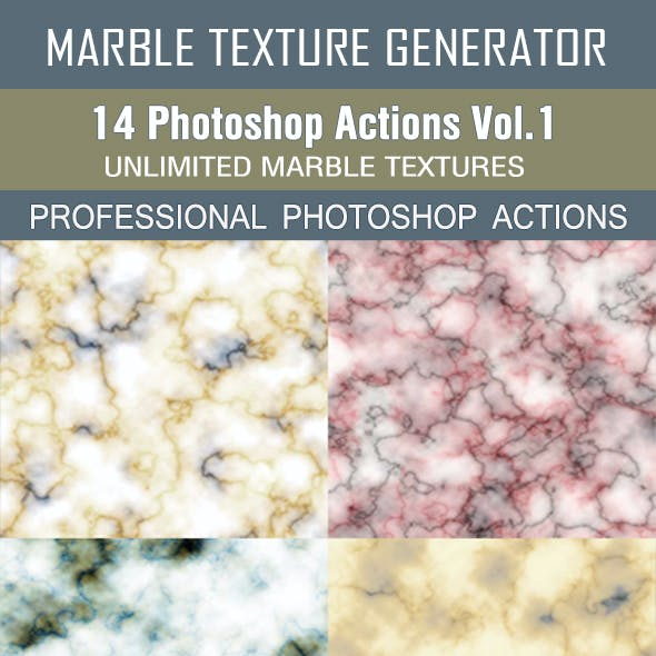 Marble Texture Generator - 14 Photoshop Actions Vol.1