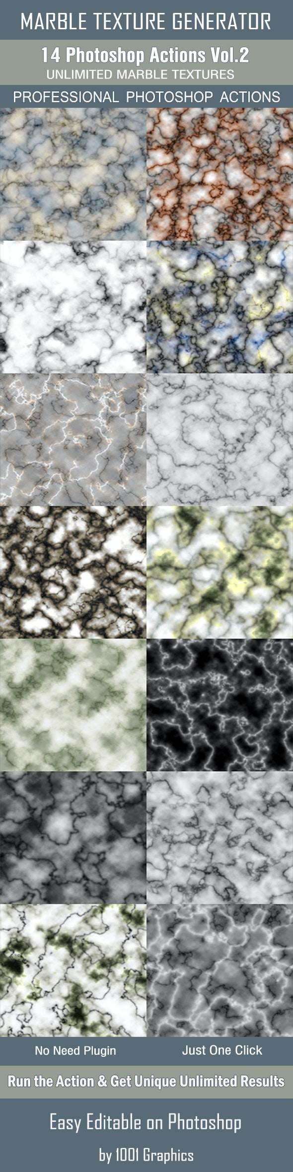 Marble Texture Generator - 14 Photoshop Actions Vol.2 - Photo Effects Actions
