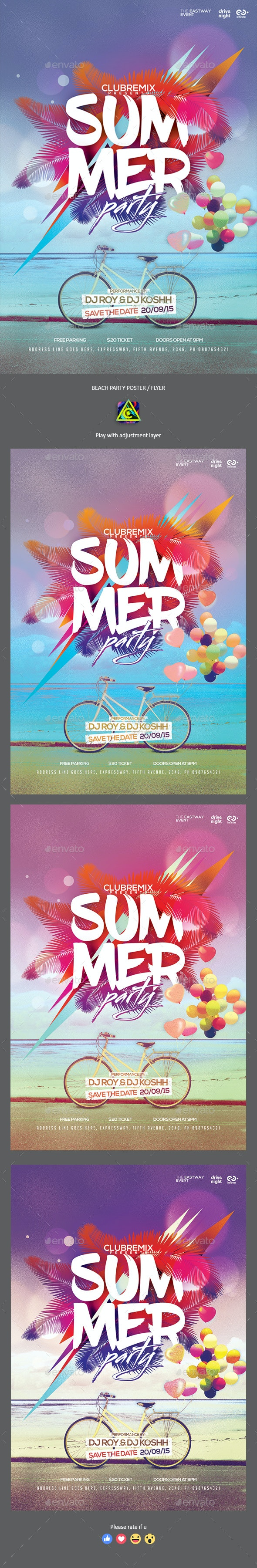 Summer Poster / Flyer - Clubs & Parties Events