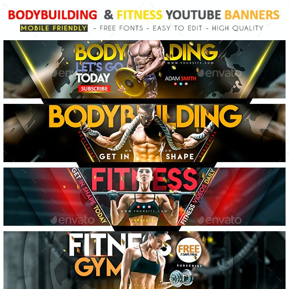 Bodybuilding & Fitness YouTube Banner