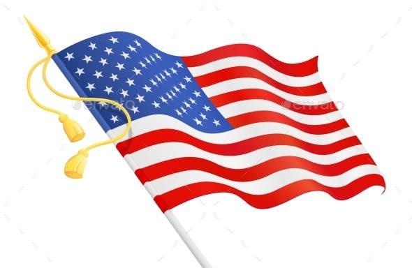 USA Flag at Handle