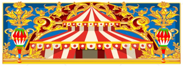 Carnival Banner with Vintage Circus - Backgrounds Decorative
