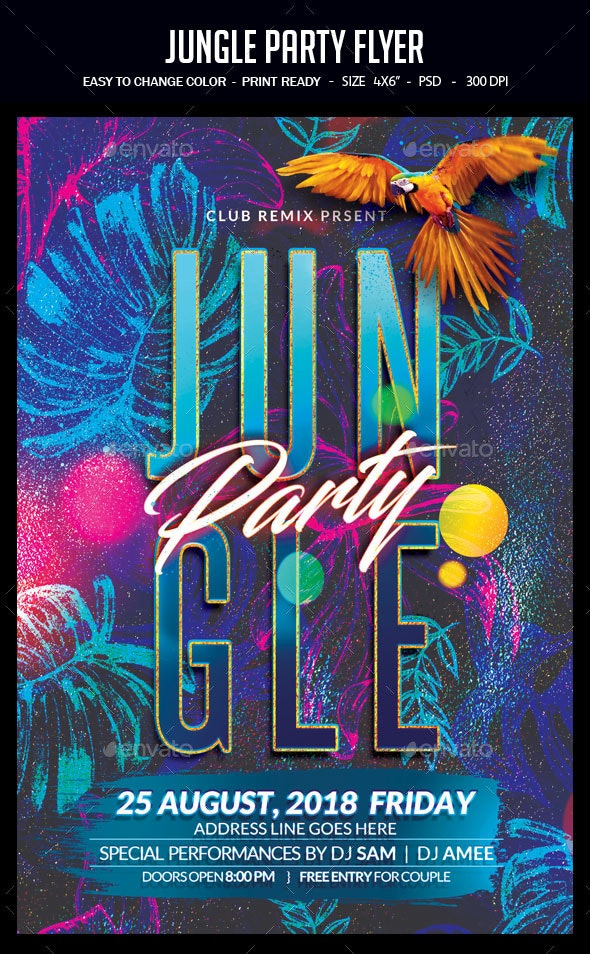 Jungle Party Flyer - Clubs & Parties Events