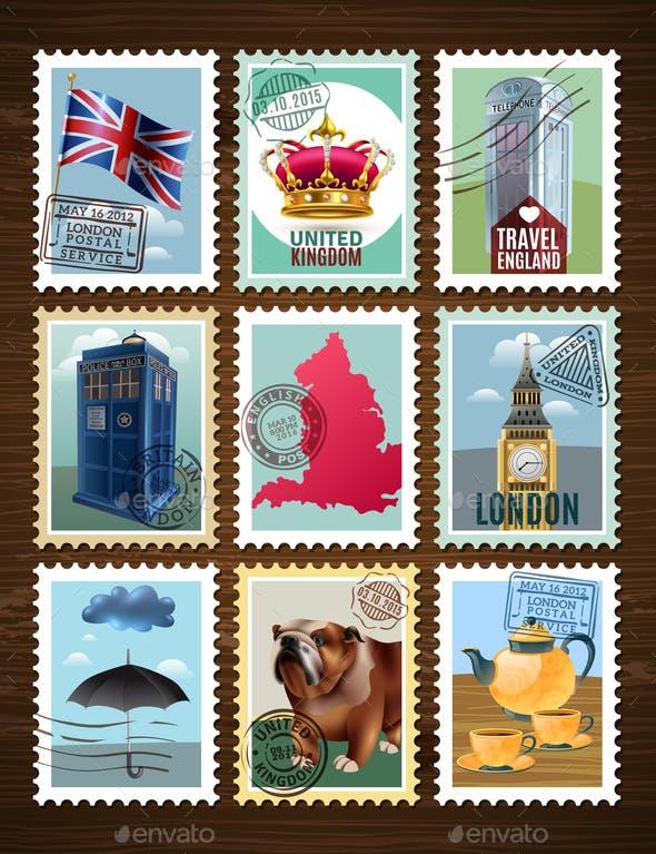 England Posters Set