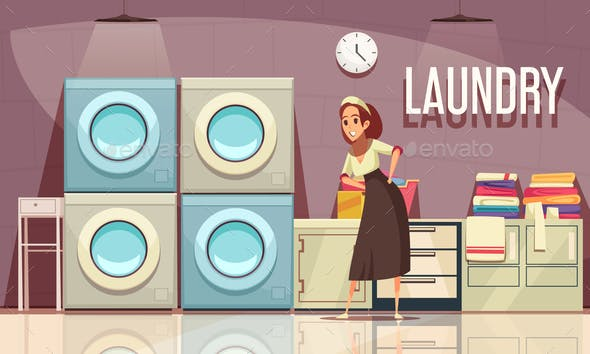 Hotel Laundry Center Background