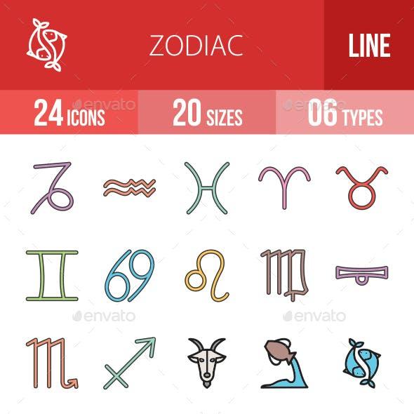Math Symbols Line Filled Icons