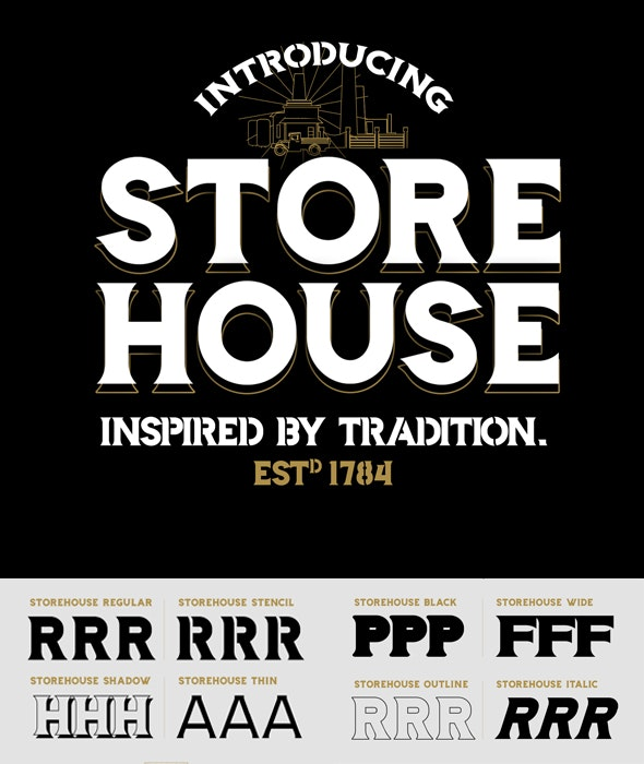 Storehouse Font - Decorative Fonts
