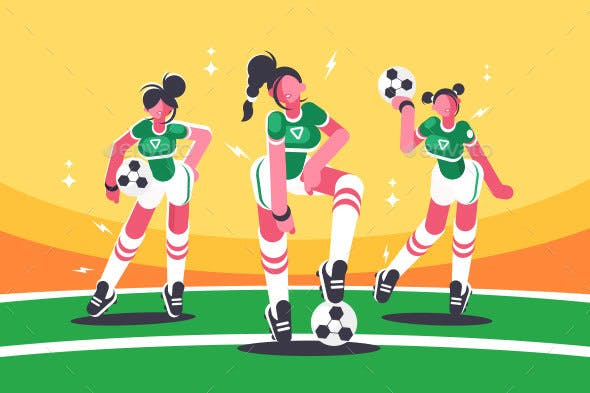 Football Woman Team