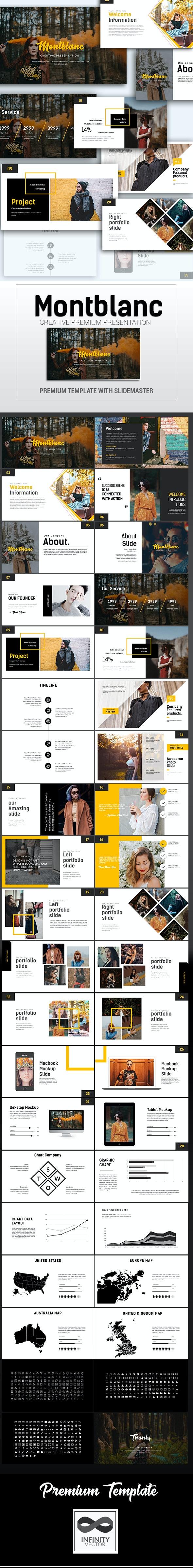 Montblanc Creative Presentation - PowerPoint Templates Presentation Templates