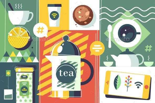 Tea Time Abstract Style