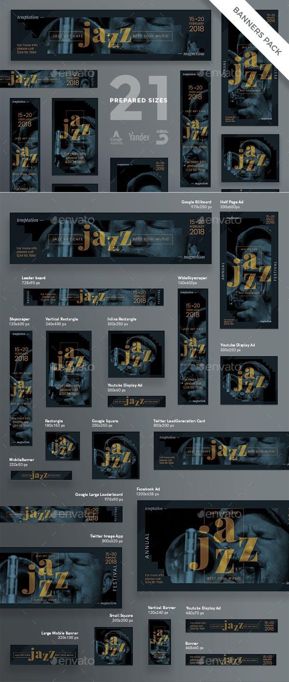 Jazz Festival Banner Pack