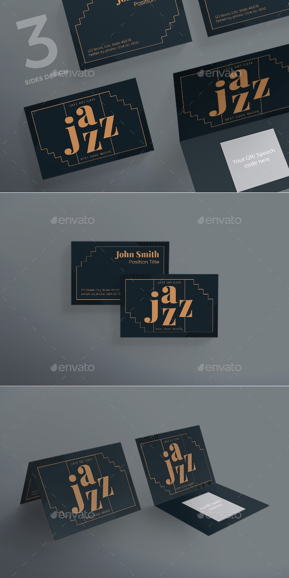 Jazz Festival Business Card - Creative Business Cards
