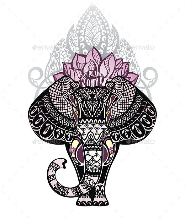 Ornamental Elephant - Animals Characters