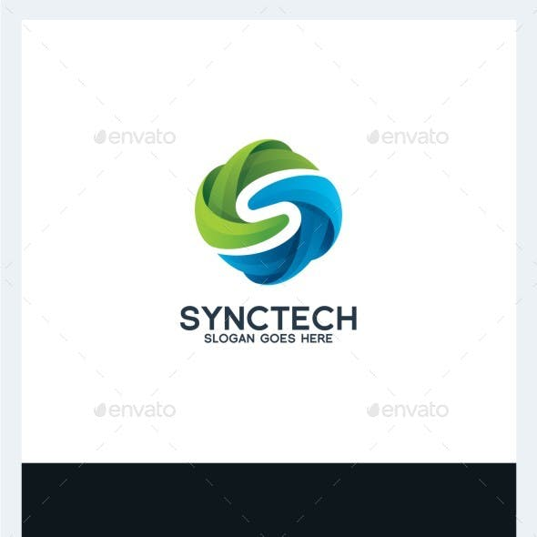 Sync Tech - Letter S Logo Template