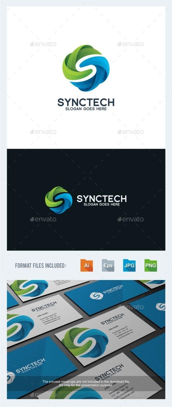 Sync Tech - Letter S Logo Template - Letters Logo Templates
