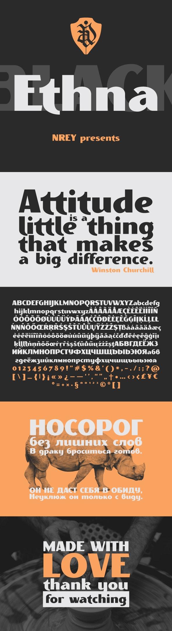 Ethna black - Sans-Serif Fonts