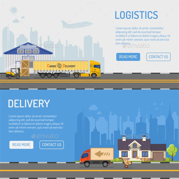 Warehouse Delivery and Logistics Banners - Retail Commercial / Shopping