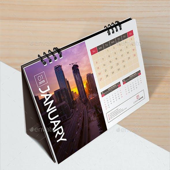 Desk Calendar Planner 2019