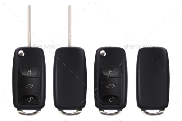 Car Key Set - Man-made Objects Objects