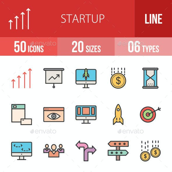 Startup Filled Line Icons