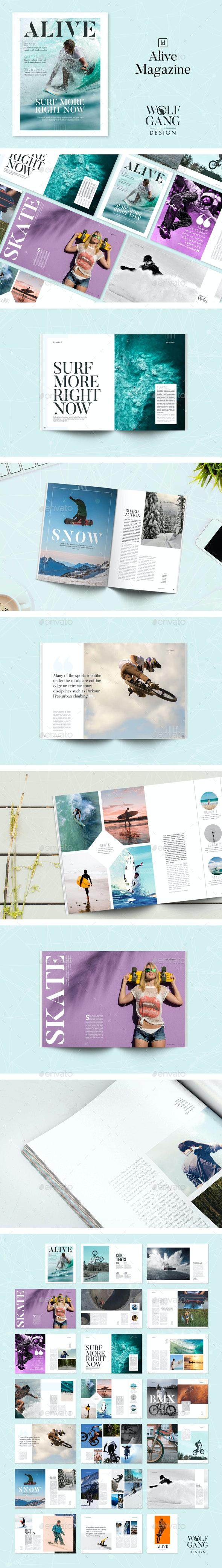 Alive Magazine Template - Magazines Print Templates