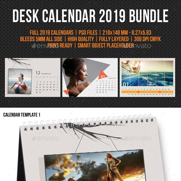 Creative Desk Calendar 2019 Bundle 08