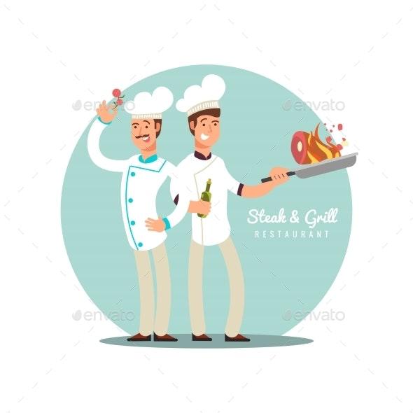 Professional Chefs Flat Design - Miscellaneous Vectors