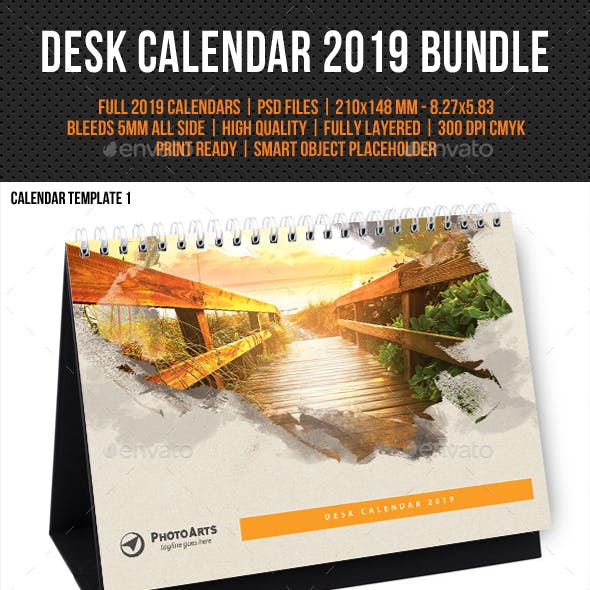 Creative Desk Calendar 2019 Bundle 07