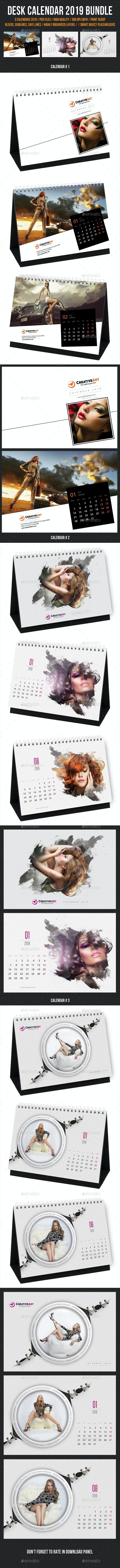 Creative Desk Calendar 2019 Bundle 05 - Calendars Stationery