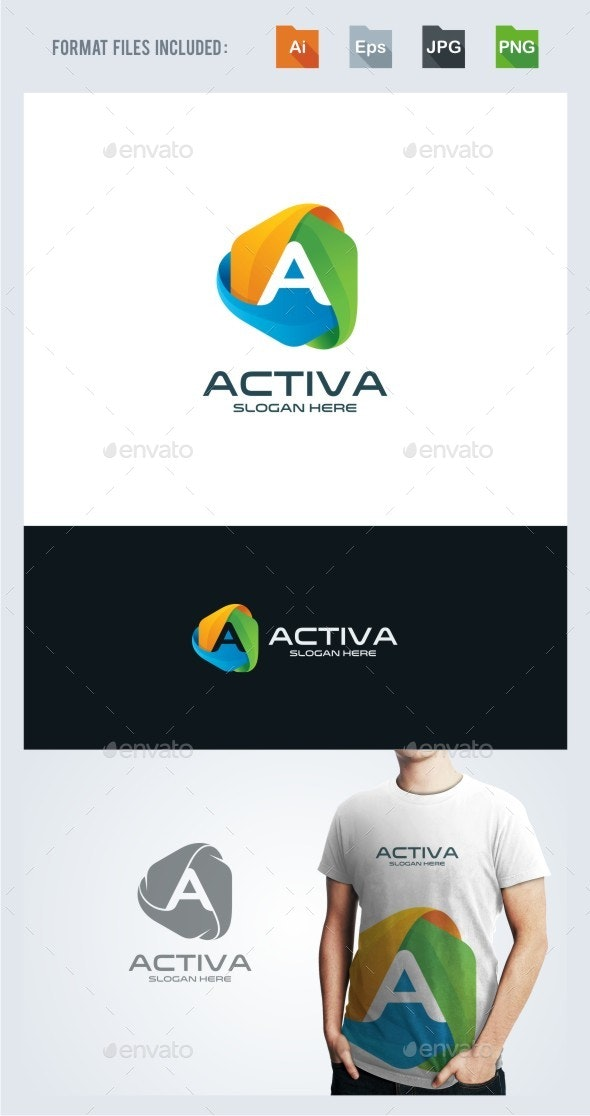 Letter A Logo Template - Letters Logo Templates