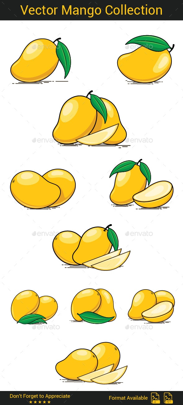 Vector Mango Collection - Food Objects
