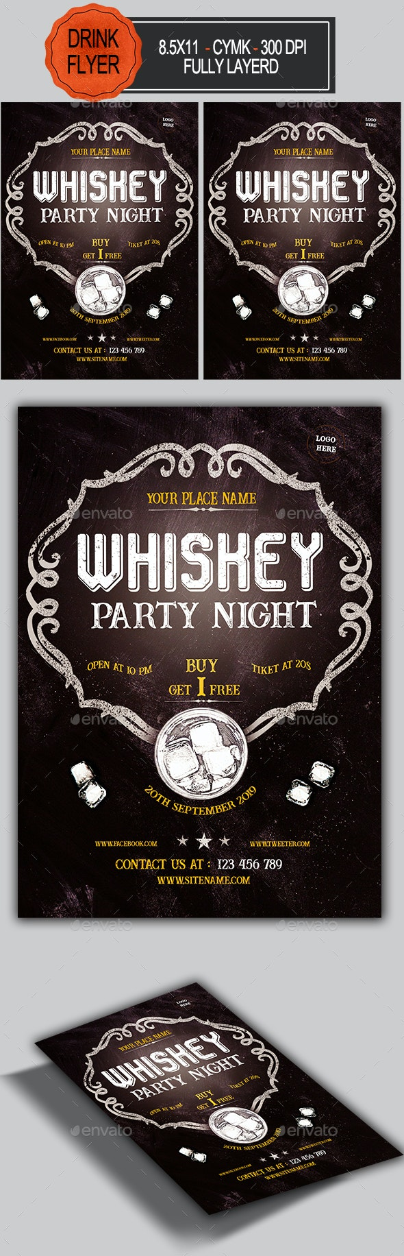 Whiskey Party Flyer - Clubs & Parties Events