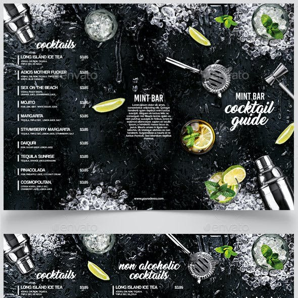 A3 Cocktail Menu