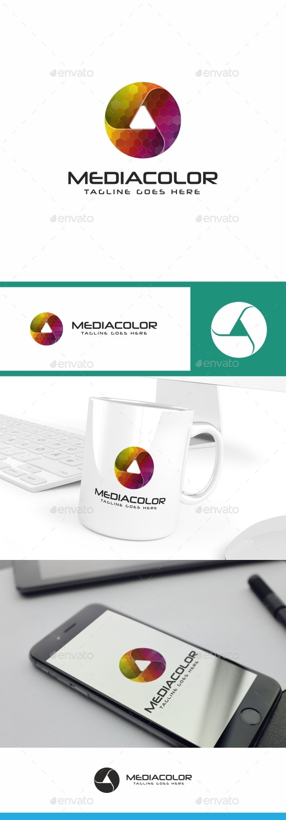 Play Media Color Logo - Symbols Logo Templates