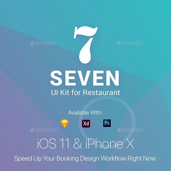 Seven Restaurant Mobile App UI Kit