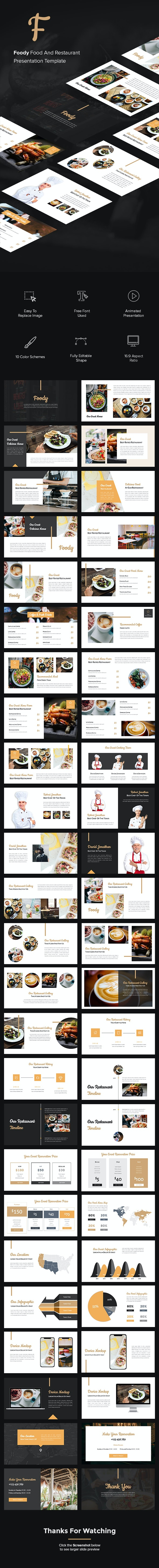 Foody - Food And Restaurant Google Slides Template - Google Slides Presentation Templates