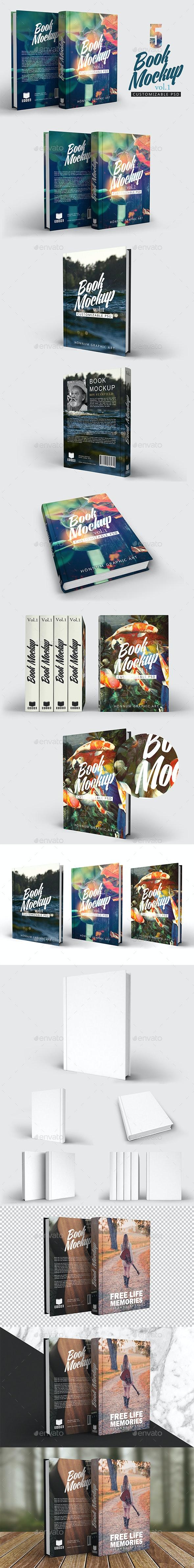 Book Mockup Vol 1 - Books Print