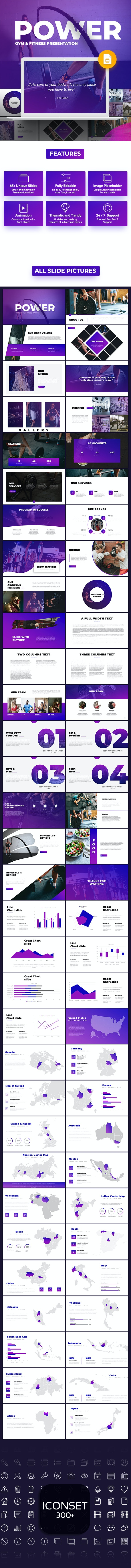 Power -  Fitness and Gym Google Slides - Business PowerPoint Templates