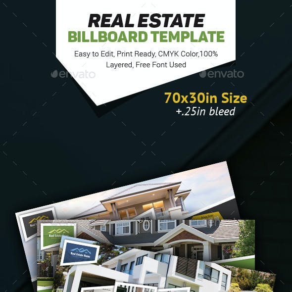 Real Estate Billboard Templates
