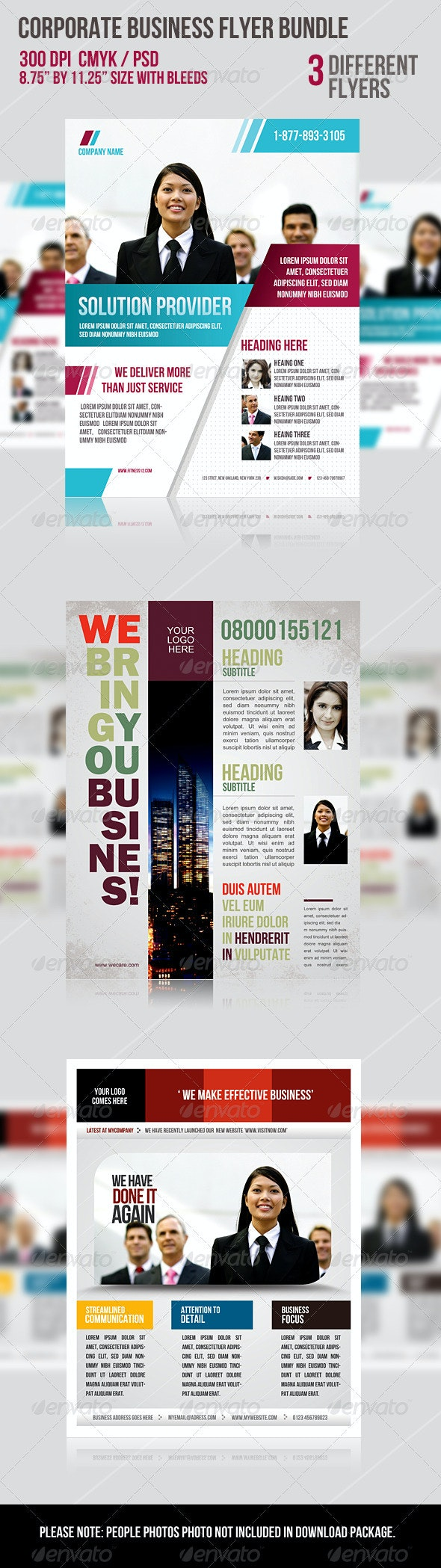 Corporate Business Flyer Bundle - Flyers Print Templates