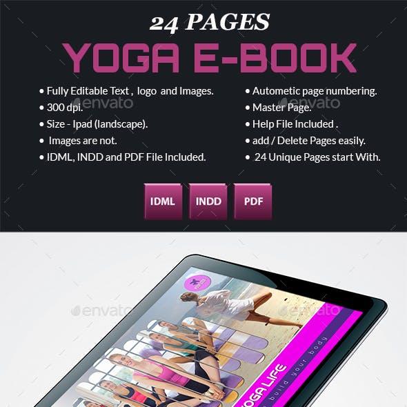 Digital Yoga Book Graphics, Designs & Templates
