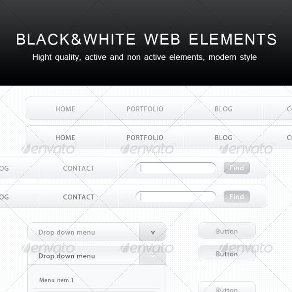 Black&White WEB Elements