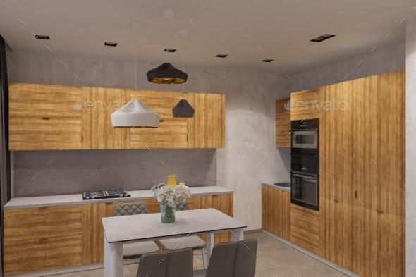3d Render Interior Design in Scandinavian Style - Architecture 3D Renders
