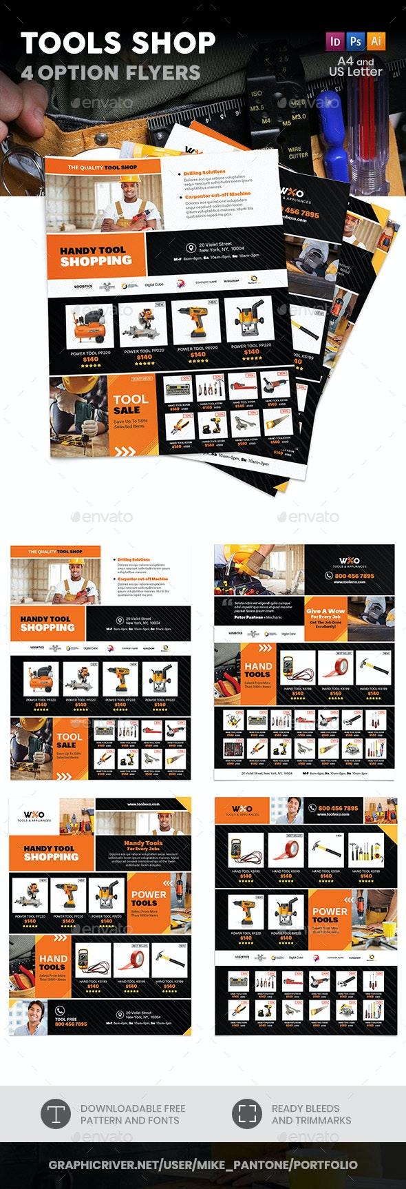 Tools Shop Flyers – 4 Options - Commerce Flyers