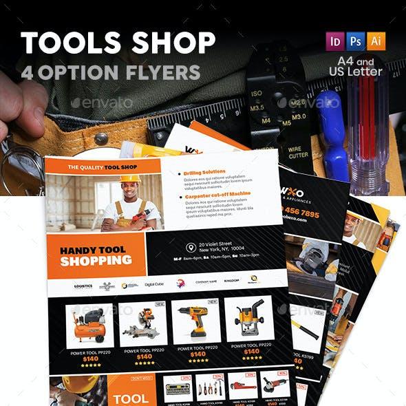 Tools Shop Flyers – 4 Options